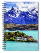 Lago Pehoe Spiral Notebook