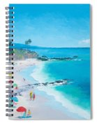 Laguna Beach Umbrellas Spiral Notebook