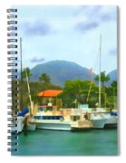 Lahina Harbor Spiral Notebook
