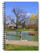 Lake At Schiller Park Spiral Notebook