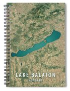 Lake Balaton 3d Render Satellite View Topographic Map Spiral Notebook