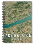 Lake Balaton 3d Render Satellite View Topographic Map Horizontal Spiral Notebook