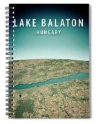 Lake Balaton 3d Render Satellite View Topographic Map Vertical Spiral Notebook