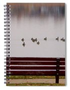 Lake Bench Spiral Notebook
