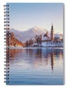 Lake Bled Winter Sunrise Spiral Notebook