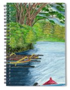Lake Bratan Boats Bali Indonesia Spiral Notebook