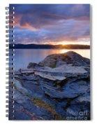 Lake Coeur D'alene Sunset Spiral Notebook