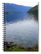 Lake Crescent - Digital Painting Spiral Notebook