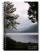 Lake Crescent Through The Trees Spiral Notebook