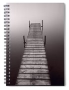 Lake Dock In Michigan Spiral Notebook