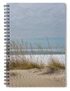 Lake Erie Ice Blanket With Sand Dunes And Dry Grass Spiral Notebook