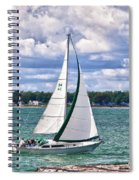 Lake Erie Sailing 8092h Spiral Notebook