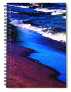Lake Erie Shore Abstract Spiral Notebook