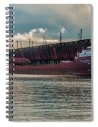 Lake Freighter - Honorable James L Oberstar Spiral Notebook