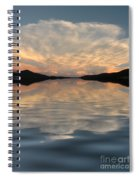 Lake Front Sunset Spiral Notebook
