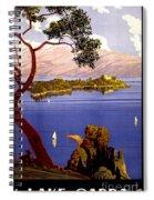 Lake Garda Vintage Poster Restored Spiral Notebook