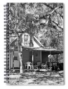 Lake House Black And White Spiral Notebook