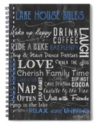 Lake House Rules Spiral Notebook