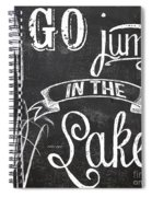 Lake House Rustic Sign Spiral Notebook