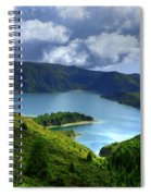 Lake In The Azores Spiral Notebook