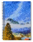 Lake In The Middle Of Swiss Beauty Spiral Notebook