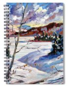 Lake In Winter Spiral Notebook