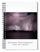 Lake Lightning 2 Poster Spiral Notebook