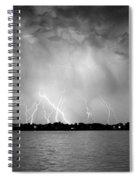 Lake Lightning Bw Spiral Notebook
