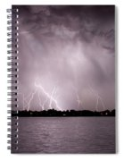 Lake Lightning Spiral Notebook