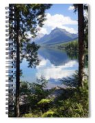 Lake Mcdlonald Through The Trees Glacier National Park Spiral Notebook