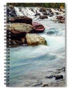 Lake Mcdonald Falls, Glacier National Park, Montana Spiral Notebook