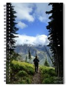 Lake Mcdonald From Mt Brown - Glacier National Park Spiral Notebook