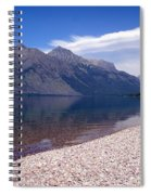 Lake Mcdonald Reflection Glacier National Park 4 Spiral Notebook