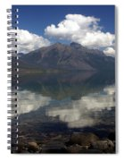 Lake Mcdonald Reflection Glacier National Park Spiral Notebook