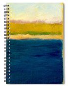 Lake Michigan Beach Abstracted Spiral Notebook