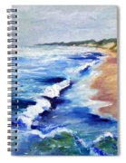 Lake Michigan Beach With Whitecaps Spiral Notebook