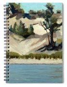 Lake Michigan Dune With Trees And Beach Grass Spiral Notebook