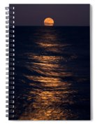 Lake Michigan Moonrise Spiral Notebook