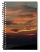 Lake Michigan Sunset Photograph Spiral Notebook