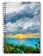 Lake Michigan Sunset Spiral Notebook