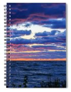 Lake Michigan Windy Sunrise Spiral Notebook