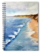 Lake Michigan With Whitecaps Ll Spiral Notebook