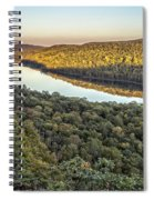 Lake Of The Clouds Sunset Spiral Notebook