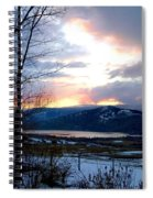 Lake Okanagan Sunset At Vernon Spiral Notebook
