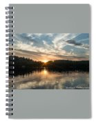 Lake Onaping Sunset Reflections Spiral Notebook