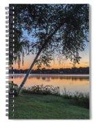 Lake Quannapowitt At Sunset Spiral Notebook