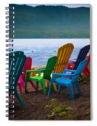 Lake Quinault Chairs Spiral Notebook