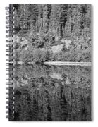 Lake Reflections In Black And White Spiral Notebook