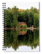 Lake Reflections Panorama 4370 4371 Spiral Notebook