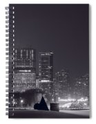 Lake Shore Drive Chicago B And W Spiral Notebook